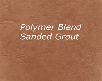 Warm EARTH BROWN 1 Pound Mosaic Tile Grout Sanded Polymer Fortified for Home Projects - Just Add Water
