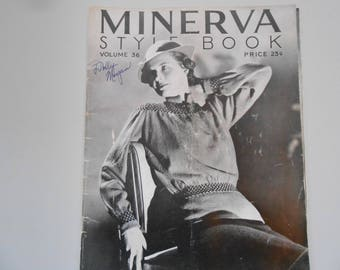 Vintage 1934 Minerva Style Book, Patterns for Knitting and Crocheting