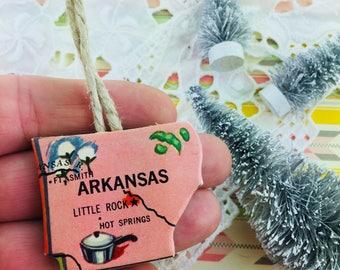 Arkansas State Ornament Vintage
