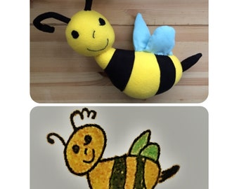Custom Made Stuffed Animal copied from a child's drawing  - MADE TO ORDER