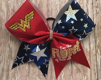 Super Hero Cheer Bow