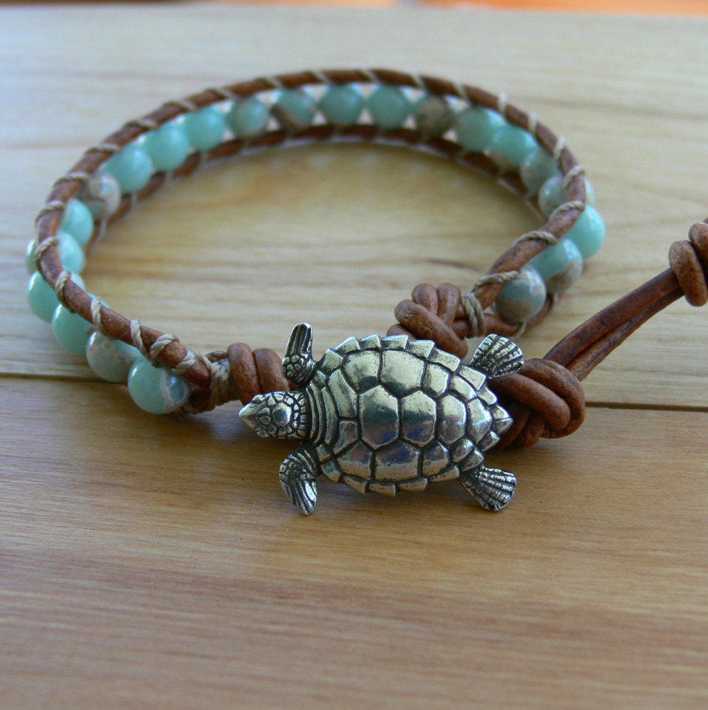 beaded bracelet in products turtle boho turquoise silver chic sea with detail