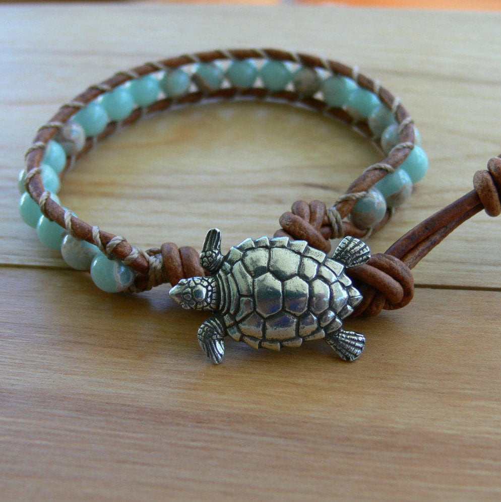 bracelet jewelry bling hawaiian blue opal sea heart kids silver nautical turtle xny cz az