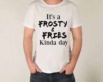 Frosty and fries shirt || Fast Food Shirt || Wendy's Frosty || Funny Shirt || Milkshake Shirt || French Fry Shirt || Adult Shirt