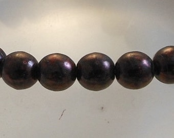 Czech Druk Beads Round Metallic Bronze 6mm (15pk) SI-6DK-MELBRZ