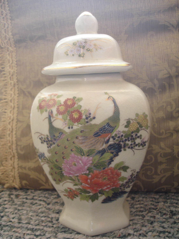 Vintage peacock urn satsuma japan 1970s floral ceramic description here is a a fabulous vintage japanese satsuma reviewsmspy