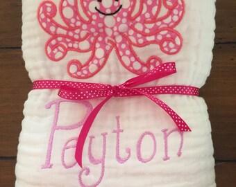 Baby towel etsy baby girl towel muslin baby towel personalized baby towel custom baby towel negle Images