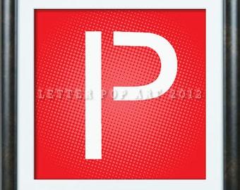 Alphabet Pop Art Print  Using Famous Brand Logo Letter