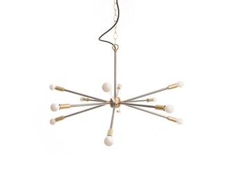 "Mid-Century ""Sputnik"" inspired chandelier with candelabra sockets"