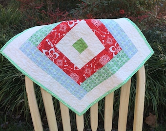Quilted Christmas table runner, Christmas table runner, Christmas table topper