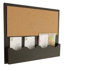 Cork Bulletin Board, Cork Board, Mail Organizer, Cork Board Message Center, Letter Holder