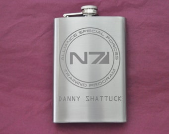 Mass Effect Personalized Flask by Jackglass on Etsy