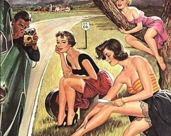1950's Pulp Glamour Photography Magazine Cover Poster A3 Reprint