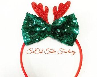 Reindeer Bow Headband