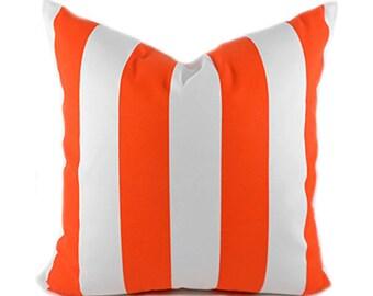 Outdoor Pillows Outdoor Pillow Covers Decorative Pillows ANY SIZE Pillow Cover Orange Pillow Premier Prints Outdoor Vertical Orange