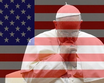 Pope Francis Pope Poster Pope Buttons Pope Shirt American Flag Souvenirs for DIY Posters Decals Mugs Keychains Magnets