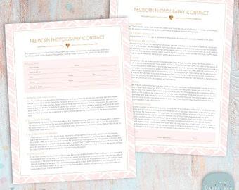 Newborn photography contract | etsy.