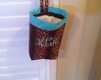 Car trash bag - Custom made in any color or print-Cheetah print