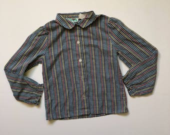 1980's Rainbow Gingham Blouse (5/6)