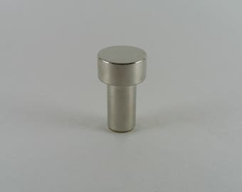 Polished Nickel Modern Drawer Knob - Nickel Cabinet Pull - Polished Nickel Cabinet Knob -  Handmade