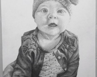 A5 and A4 Baby Pencil Portraits
