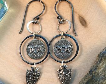 Moon Goddess Talisman Earrings