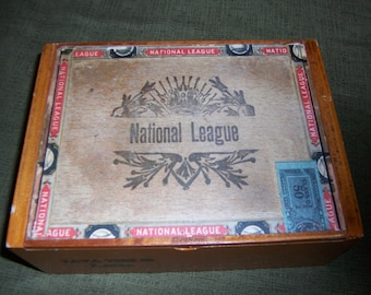National League Cigar Box Baseball Stadium
