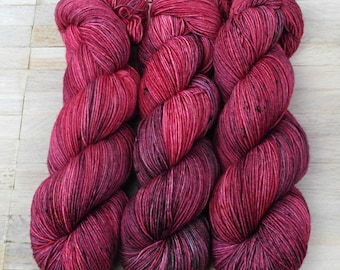 Hand Dyed Sock Yarn Superwash Merino - Yarntoyou  - PURE MERINO - Spring Cherry