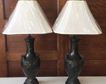 Antique Adjustable Metal Cast Lamps
