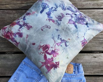 Hand Dyed Leather Pillow
