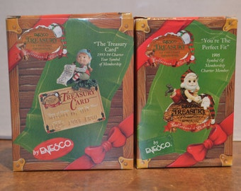 1993-1995 Enesco Treasury Collectors Club Christmas Ornaments