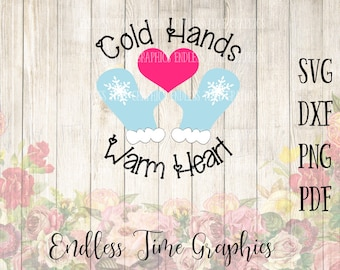 Cold Hands Warm Heart SVG. Winter SVG. Holiday Svg. Christmas Svg. Christmas Cut File. DIY Christmas. Mittens Svg. Christmas Shirt Decal 316