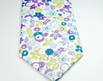Purple Neckties Skinny Neckties Floral Neckties Purple Floral Neckties Wedding Neckties Custom Neckties