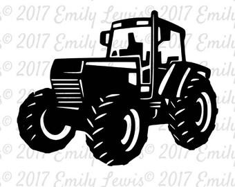 tractor svgs - tractor svg - tractors - tractor - wall decals - cut files - svg files - clipart - svg cuts - cricut files - cameo - decals