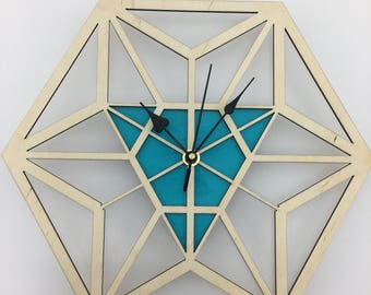 Sacred Geometry Clock - hexa-triangle