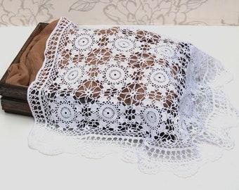Newborn Photo Prop, White Lace Photo Prop, Crochet Lace Layer, Vintage Lace Layer, Crochet Lace, Photography Prop, Lace Layering Piece