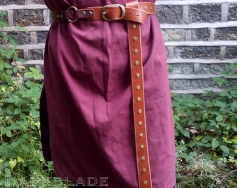 Long Leather Belt for Larp, Cosplay, Medieval, Game of Thrones Costume