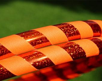 Beginnner Weighted Adult Hula Hoop   Orange Flash