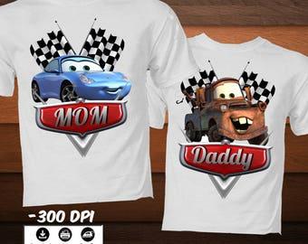 Disney Cars Iron on  Transfer Image-Family Cars Birthday Shirt-DIY Disney Cars Decoration Party Shirt-DIGITAL DOWNLOAD