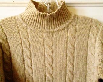 J Crew Lambswool Mock Turtleneck Sweater, S - M, Petite, Vintage