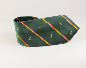 Striped Necktie - Green Striped Tie - Green Stripes - Groom Tie - Gift for Boy - Vintage Wedding Tie - Wedding Tie - Skinny Tie - Mens Tie