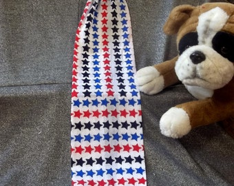 Plastic Bag Holder Sock, Red Blue Stars Print