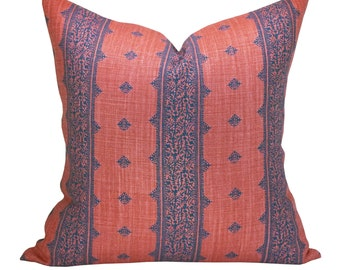 Fez pillow cover in Indigo/Raspberry - ON BOTH SIDES