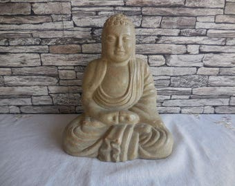 Vintage terracotta figure of a Buddha