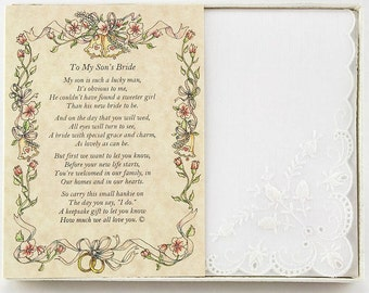 Personalized From the Groom's Mother to the Bride Wedding Handkerchief - BH126