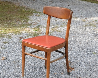 Vintage Thonet Bentwood Chair Upholstered Seat Dining Desk Chair Retro Cafe  Bistro PanchosPorch
