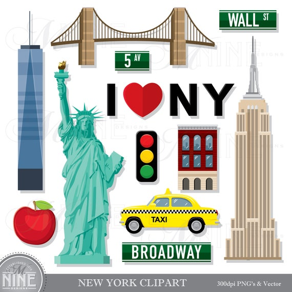 new york clip art new york theme clipart download new york rh etsy com new york clipart free new york clipart free