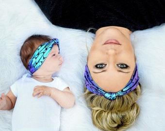 Mermaid Headband, Mommy and Me Headband, Mermaid Sister Headbands, Mermaid Headband Toddler, Big Sister Little Sister Headband Mermaid Girl