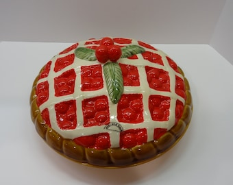 CHERRY PIE Plate & COVER