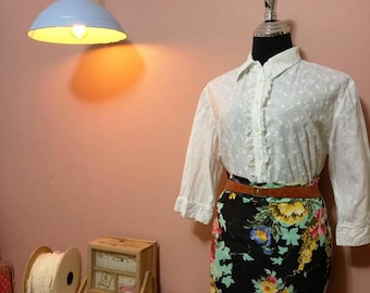 Midi Skirt. Vintage. Women's Skirts. Vintage Skirt. 1990 Skirt .Flwoers Midi Skirt. 90's Skirts.Vintage Skirt For Women 1990's.Free Shipping